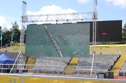 Sheftival's big screen for the Olympics. Copyright Chris Craddock