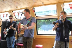 Dodgy on the Busking Barge. Photo by Chris Craddock